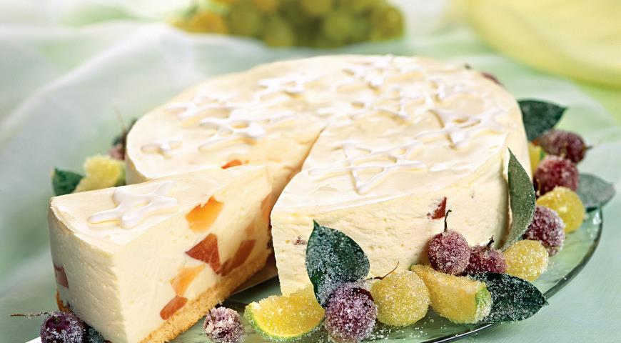 Рецепт Творожный торт с грейпфрутовым желе