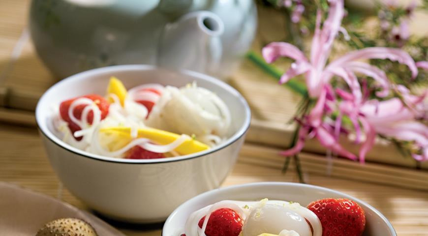 Рецепт Рисовая лапша с фруктами