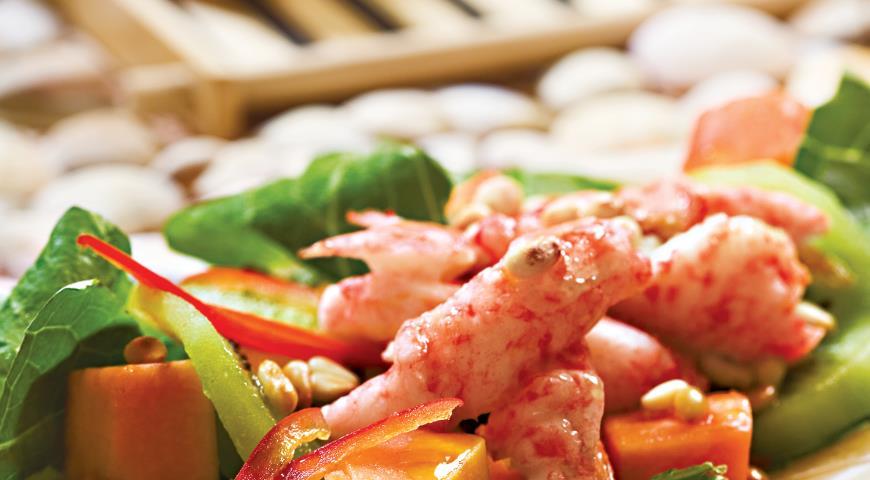 Рецепт Тайский салат с крабами и киви