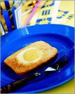Рецепт Яичница-глазунья в хлебе