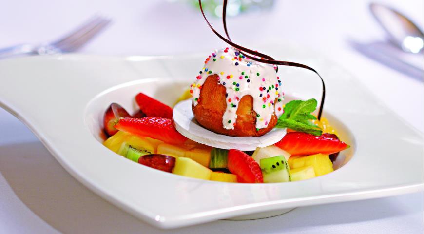 Рецепт Фруктовый салат с куличом