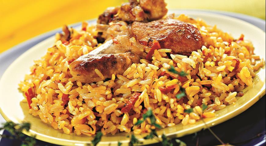 Курица ч рисом рецепт с фото