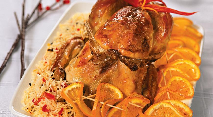 Рецепт Рождественская индейка с апельсинами