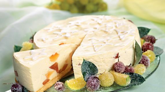 Творожный торт с грейпфрутовым желе