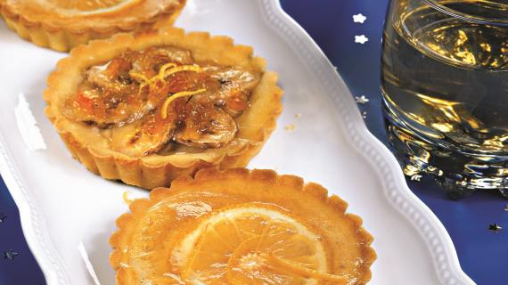 Мини-тарталетки с лимонами и бананами