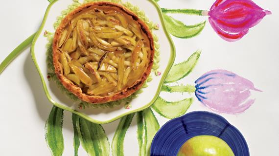 Тарталетки с яблоками и медом