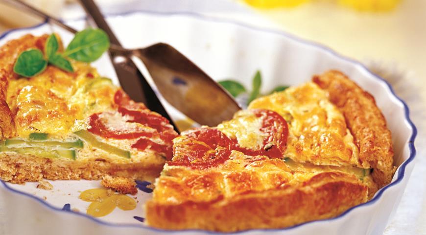 Рецепт Флан из кабачков с томатами