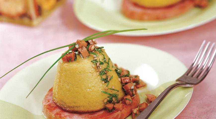 Рецепт Мусс из кабачков с ветчиной