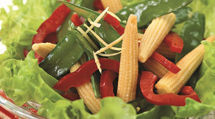 Рецепт Китайский салат с кукурузой
