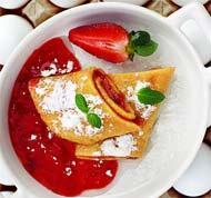 Рецепт Омлет-фламбе с конфитюром