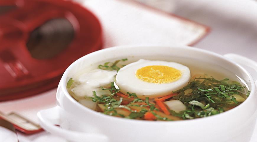 Рецепт Дачный суп с крапивой и щавелем