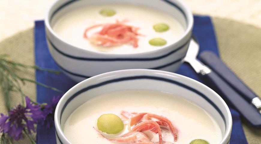 Рецепт Холодный суп из дыни с ветчиной
