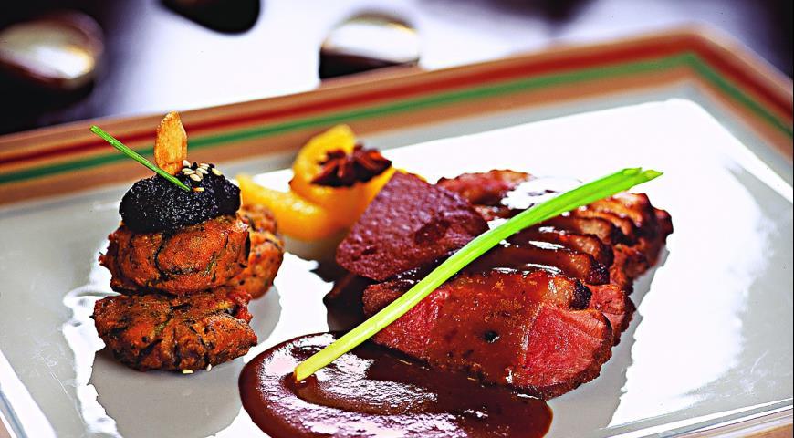 Рецепт Утка с соусом из мисо и черных бобов
