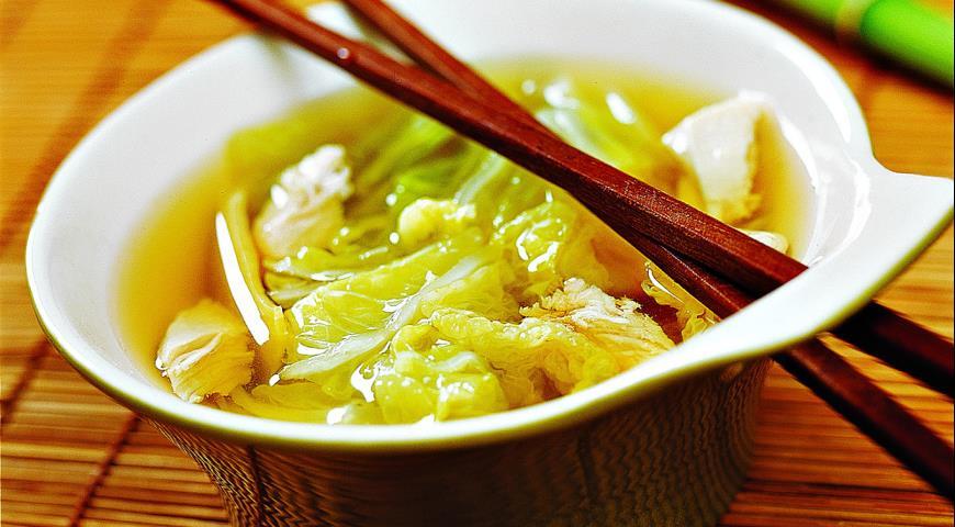 Рецепт Китайский суп из капусты с курицей