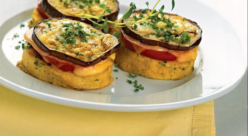 Закуска из баклажанов, помидоров и сыра, пошаговый рецепт с фото