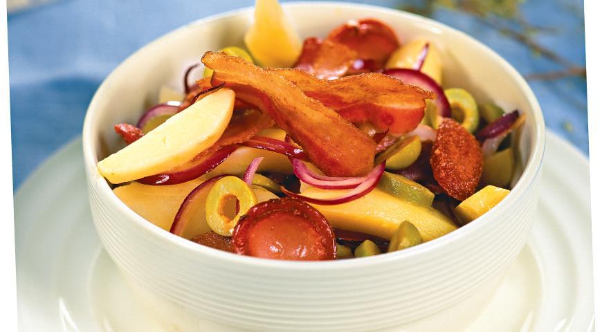 Рецепт Картофельный салат с копченостями
