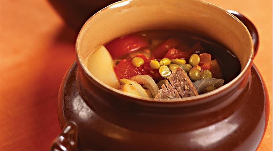 Суп из свинины в горшочке в духовке рецепт