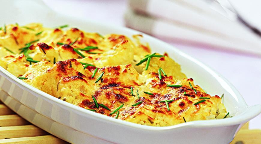 Рецепты вторых блюд цветной капустой в духовке