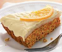 Морковный пирог с фундуком