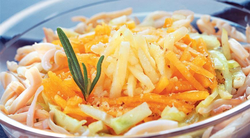 Рецепт Салат из тыквы с кальмарами
