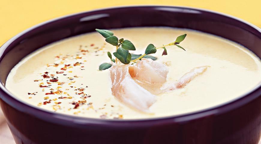 Рецепт Суп из тыквы и копченой рыбы