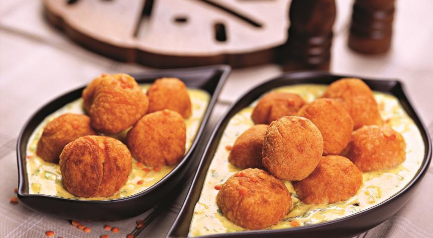 Рецепт Шарики из чечевицы со сладким перцем и йогуртом