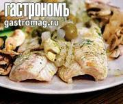 Рецепт Рыба, запеченная с оливками и каперсами