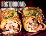 Рецепт Блины с морепродуктами