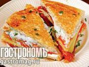 Рецепт Сэндвич с семгой и сливочным сыром