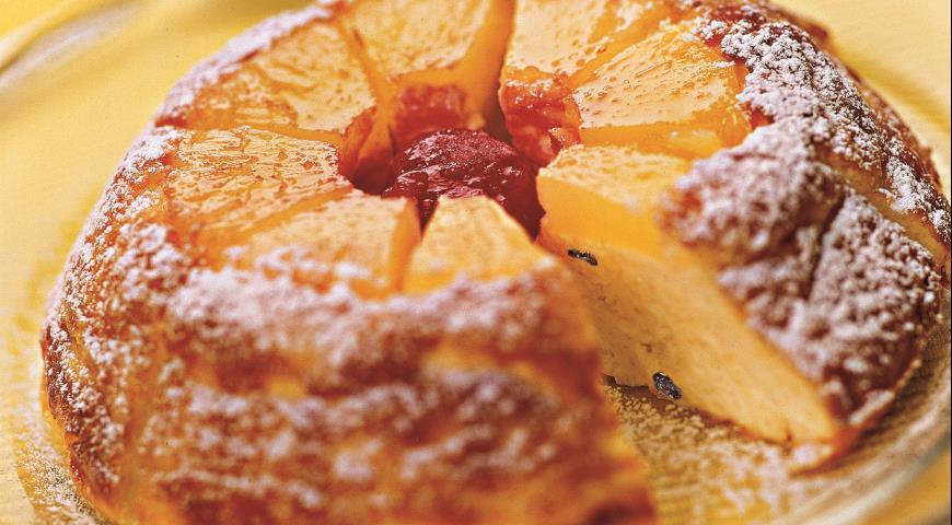 Рецепт Запеканка творожная с ананасом