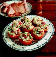 Рецепт Помидоры, фаршированные творогом и овощами