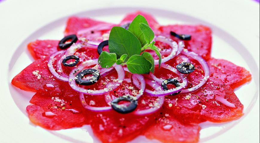 Рецепт Карпаччо из томатов