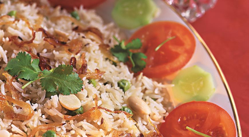 Рецепт Рис с горошком и зирой