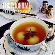 Рецепт Бульон с манными клецками (нокелями)