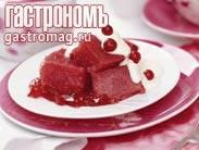 Рецепт Манная каша на клюквенном соке
