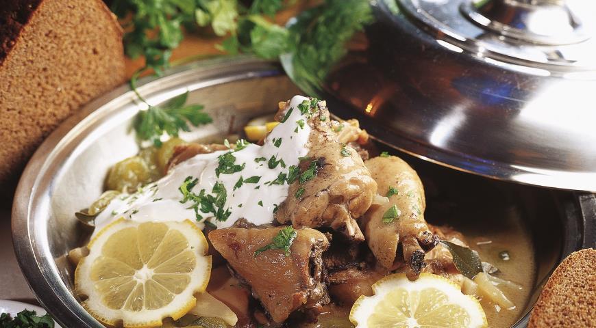 Рецепт Калья из курицы по-царски