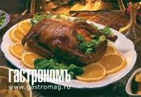 Рецепт Жареная утка с апельсиновым мармеладом