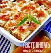 Рецепт Каннеллони с сыром и зеленью