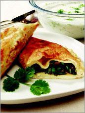 Рецепт Кутабы с весенней зеленью