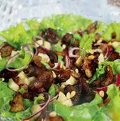 Рецепт Перигорский салат с куриной печенкой