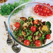 Рецепт Теплый салат из куриной печенки и брокколи