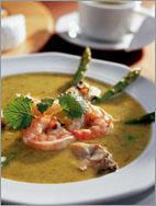 Рецепт Суп из спаржи с морепродуктами