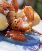 Рецепт Тигровые креветки в китайской водке