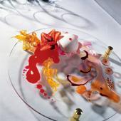 Рецепт Клубничный десерт «Розовая планета»