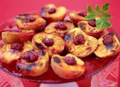 Рецепт Персики-гриль с малиновым соусом