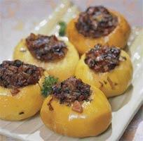 Рецепт Репа, фаршированная грибами и овощами