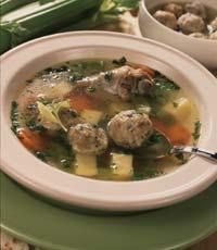 Рецепт Куриный суп с фрикадельками