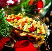 Рецепт Салат из яичной лапши, лимской фасоли и сладкого перца с тайской заправкой