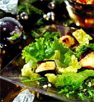 Рецепт Салат из баклажанов с козьим сыром