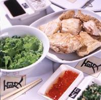 Рецепт Вареная курица с имбирем, луком и кинзой